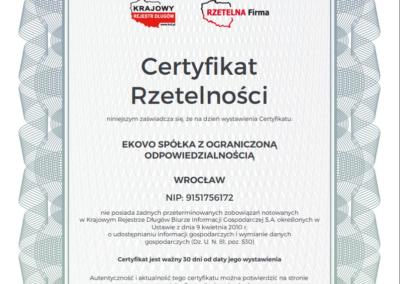 certyfikat rzet